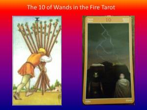 10 of Wands in the Fire Tarot